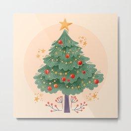 Whimsical Christmas Tree Metal Print