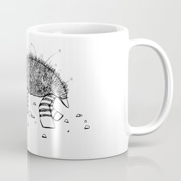 The Lazy Turtle Black and White Sketch Coffee Mug