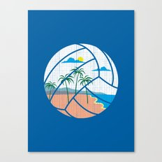 Beach Volleyball Canvas Print
