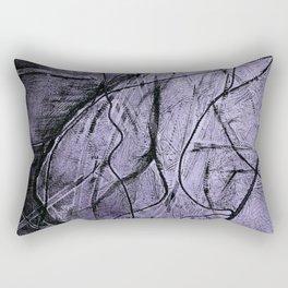 Etching _Visualising the inner self. Rectangular Pillow