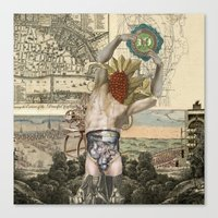 atlas Canvas Prints featuring Atlas by DIVIDUS