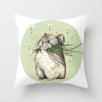 hamster Throw Pillows featuring Hamster Love by Nasuta