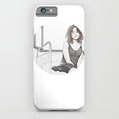 closed eyes - woman dotwork portrait Slim Case iPhone 6s