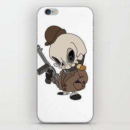 Cute Gangster Skull iPhone Skin