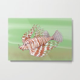 Fish Manchu Metal Print