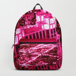 Chicago Skyline Hot Pink Backpack