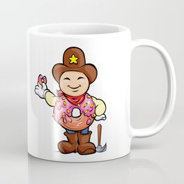 prospector donut cartoon Coffee Mug
