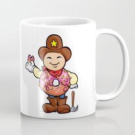 prospector donut cartoon Coffee Mug