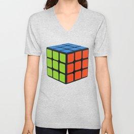 Colorful Cube Unisex V-Neck