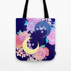Floral Moon Tote Bag