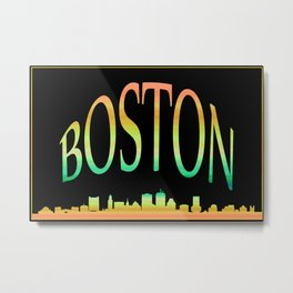 Boston Skyline 10 Metal Print