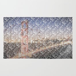 Typographic Art | SAN FRANCISCO Golden Gate Bridge Rug