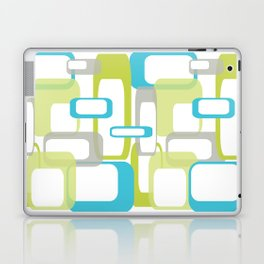 Mid-Century Modern Rectangle Design Blue Green and Gray Laptop & iPad Skin