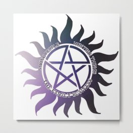 Saving People, Hunting Things, The Family Business Ombre Anti Possession Symbol Metal Print