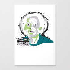 Doc Brown_INK - Back to the Future Canvas Print
