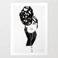 lucy Art Prints featuring Lucy by Issa Abou-Issa