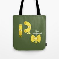 party Tote Bags featuring Pasta Party by David Olenick