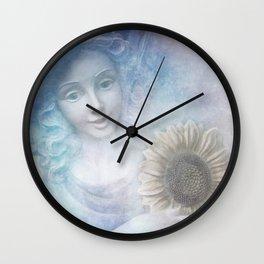 Sunflower Angel Wall Clock