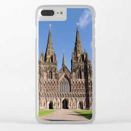 Lichfield cathedral Clear iPhone Case