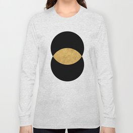 VESICA PISCES CIRCLE ABSTRACT GEOMETRIC SYMBOL Long Sleeve T-shirt