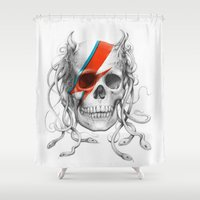 skull Shower Curtains featuring Skull  by Olechka