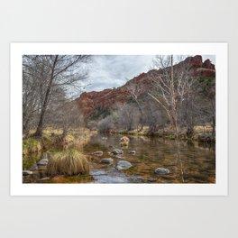 Oak Creek at the Base of Cathedral Rock Art Print
