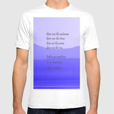 Share it with Me MEDIUM White Mens Fitted Tee