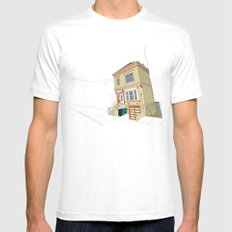 Mike's House SMALL White Mens Fitted Tee
