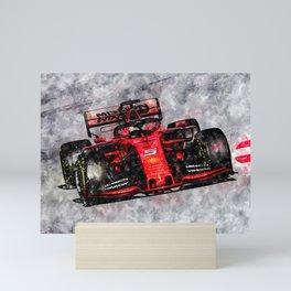Sebastian Vettel 2019 Mini Art Print