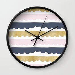 Trifle Pastel Gold Wall Clock