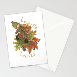Leave the Leaves Stationery Cards