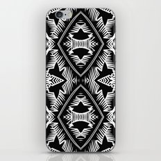 Palm Leaves Pattern - black and white - modern  iPhone & iPod Skin