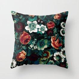 Midnight Garden VIII Throw Pillow