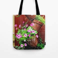 Potted Petunias Tote Bag