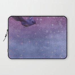 Bird Neck Gator Blue and Purple Bird Laptop Sleeve
