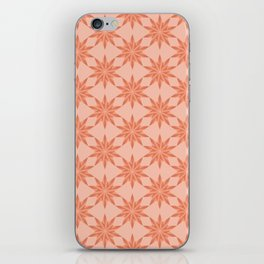 Coral gradient stars pattern iPhone Skin
