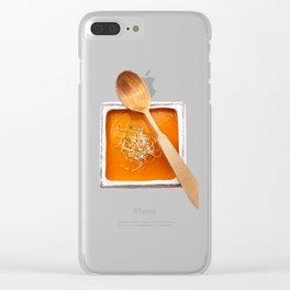 Pumpkin soup Clear iPhone Case