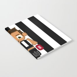 Super cute sports stars - Black and White Aussie Footy Notebook