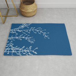 Elegant Floral on Classic Blue, Color of the Year 2020 Rug