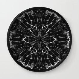boho style black white Wall Clock