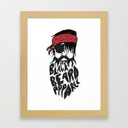 BlackBeard Pirate Framed Art Print