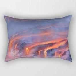 Water and Fire Rectangular Pillow