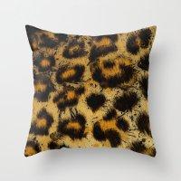 cheetah Throw Pillows featuring Cheetah by Some_Designs