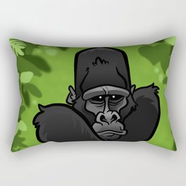 Silverback Gorilla Rectangular Pillow