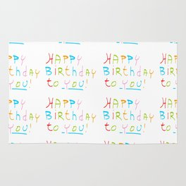 Happy birthday 1-Happy birthday, birthday,greeting,candle,birth date, anniversary Rug
