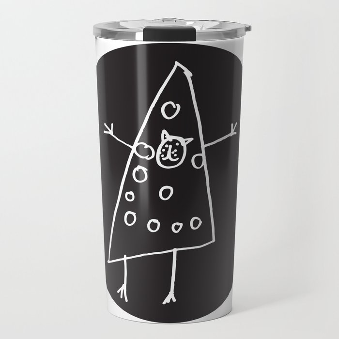Pizza Cat Travel Mug