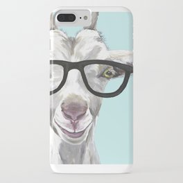 Goat with Glasses, Cute Farm Animal iPhone Case