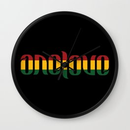 One Love Ambigram  Wall Clock