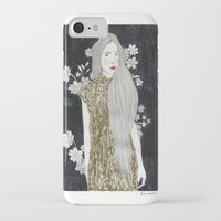 gold glitter iPhone & iPod Cases featuring Gold Glitter  by Juana Andres