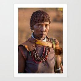 Hamar woman. Turmi, Ethiopia. Art Print